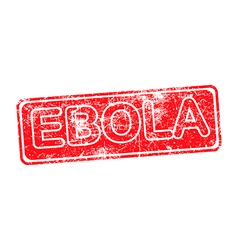 ebola red grunge rubber stamp vector image
