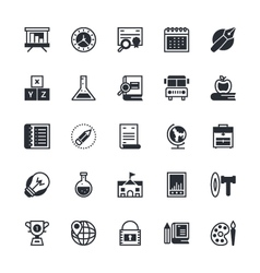 Education Icons 2 vector image