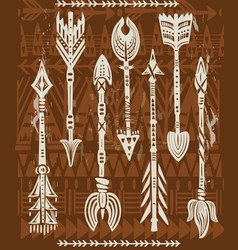 Ethnic tribal arrows vector