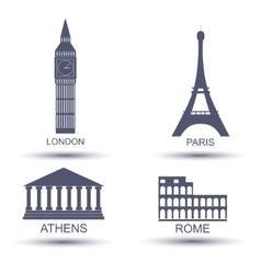 European capital vector image