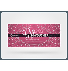 Gift voucher design template discount card gift vector