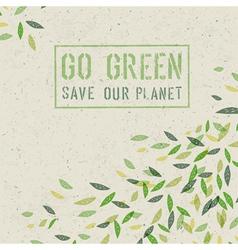 Go green concept poster vector