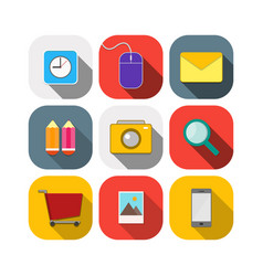 Include icons flats objects design vector