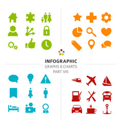Infographic icon collection vector