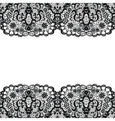 Lacy backgound black lace vector