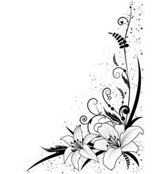 lily and grass vector image vector image