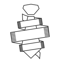 Line necktie icon vector