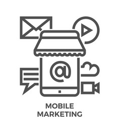 mobile marketing icon vector image vector image