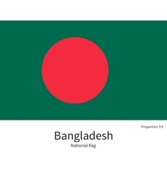 National flag of Bangladesh with correct vector image
