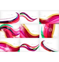 Purple rainbow swirl background vector image vector image