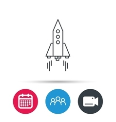 Rocket icon startup business sign vector