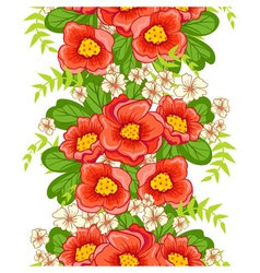 Seamless floral ornament vector image vector image