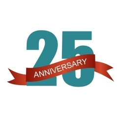 Twenty five 25 years anniversary label sign for vector