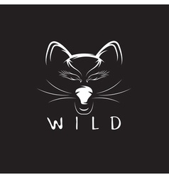 Wild cat with eagle eyes design template vector