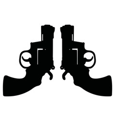Two short revolvers vector