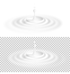 White liquid drop with ripple surface EPS 10 vector image