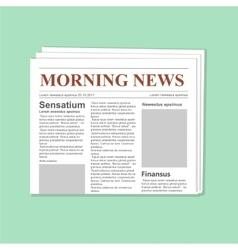 Newspaper journal template vector image