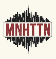 Manhattan new york graphic t-shirt design tee vector