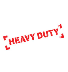 Heavy duty rubber stamp vector