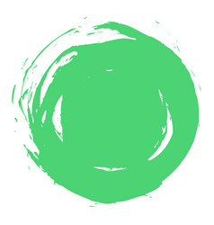 green brush stroke circle shape vector image