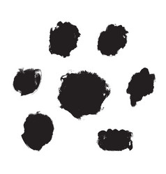 Ink and paint texture set isolated on a white vector