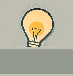 bulb symbol label design vector image