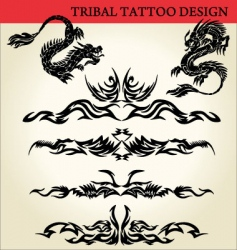 tribal tattoo design vector image