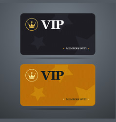 Vip card template with logo and abstract vector image