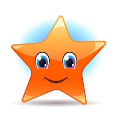 Smiley star vector
