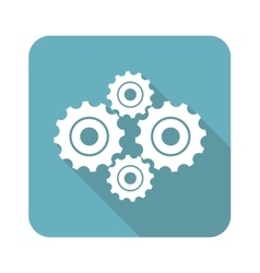 Square cogs icon vector