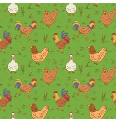 Roosters and hens vector