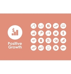 Set of positive growth simple icons vector