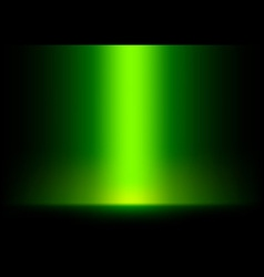 Green light from top background vector