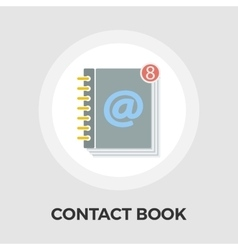 Contact book flat icon vector image