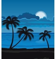 Night summer beach vector