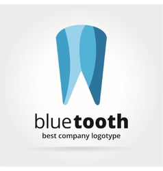 Abstract dental tooth logotype concept isolated on vector image