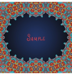 Arabian style frame for text vector