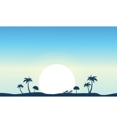 art of beach landscape silhouette vector image vector image