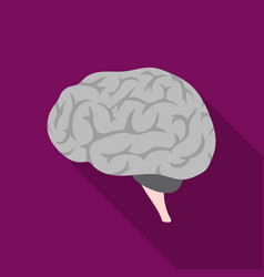 Brain icon in flat style isolated on white vector