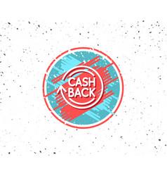 Cashback service line icon money transfer vector