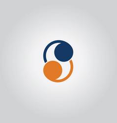 dot letter s logo vector image vector image
