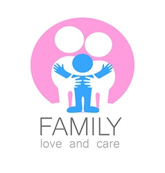 Family love care logo vector