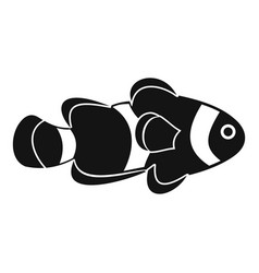 Fish clown icon simple style vector