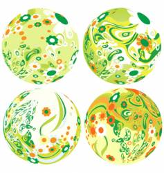 floral globes vector image vector image