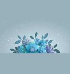 Flower composition for the mailing list vector