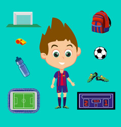 football signs set vector image vector image