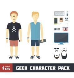 Geek Character Set vector image