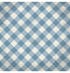 Grunge checkered background vector image vector image