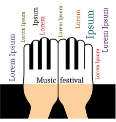 Hands in the form piano keys vector
