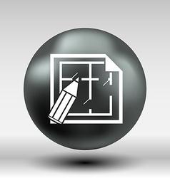 House plan icon button logo symbol concept vector